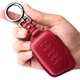 Tukellen for Lexus Leather Key Fob Cover with Keychain Key Shell