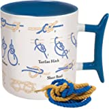 How To: Knots Coffee Mug - Learn How to Tie Eight Different Knots - Comes in a Fun Gift Box - by The Unemployed Philosophers