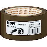 Nopi Universeel verpakkingstape, bruin, 66 m: 50 mm