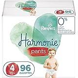 Pampers Couches-Culottes Harmonie Pants Taille 4 (9-15kg) 0% de compromis, 100% d'absorption, Ingrédients d'Origine Végétale,