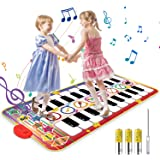 Vimzone Piano Tapis De Musique, Tapis De Jeu De Piano pour Enfants Play Clavier Tapis De Musique Tapis De Danse Drôle Jouets