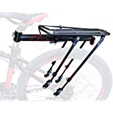 COMINGFIT 80kg Capacity Adjustable Bike Luggage Cargo Rack, Super Strong Bike Luggage Carrier, 4-Strong-Leg Bicycle Cargo Carrier