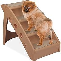 Relaxdays Hundetreppe 4 Stufen, kleine & große Hunde, Bett & Couch, Auto, Tiertreppe bis 100 kg, 49x39x61 cm, Farbwahl