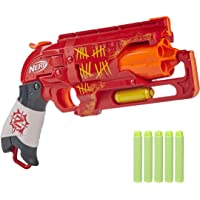NERF Zombie Strike Hammershot Blaster, Pull-Back Hammer-Blasting Action, 5 Official Zombie Strike Darts, Red Color…