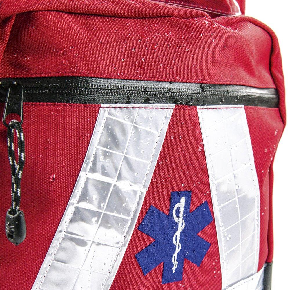 81E1GK07llL - Basic Medical Supply BMS-2S 135228salvavidas Mochila Impermeable, color rojo