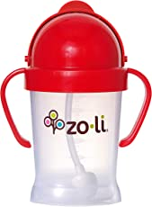 ZoLi BOT Straw Sippy Cup 6oz (Red)