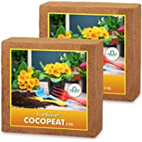 TrustBasket Set of 2 COCOPEAT Block 5kg - EXPANDS to 150 litres of Coco PEAT Powder