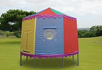 Rundes Trampolinzelt mit 6 Stäben (244 cm) zum Überziehen über Trampolinnetz