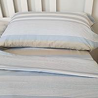 PimpamTex - Parure de lit en flanelle 100% coton avec drap plat imprimé et uni idéal pour l'hiver – (lit simple…