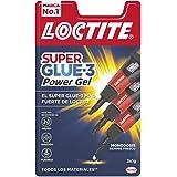 Loctite Super Glue-3 Power Gel Mini Trio, gel adhesivo flexible y resistente, pegamento instantáneo para superficies vertical