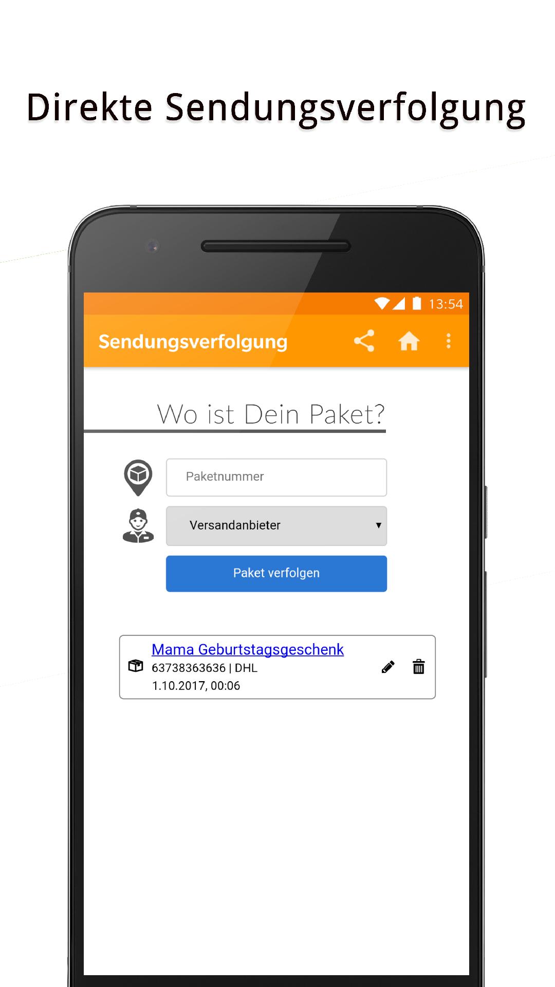 Sendungsverfolgung Paketmanager Amazonde Apps Für Android
