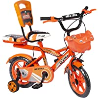 Speed Bird 12-T Robust Double Seat Bicycle Baby Cycle for Boys & Girls Age Grope 2-5 Years (Orange)