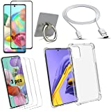 SAMSUNG GALAXY A51 mobile cover case- Full Body Protection with Screen Protector, Clear View Transparent cover with Mobile Ho