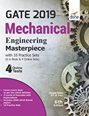 GATE 2019 Mechanical Engineering Masterpiece with 10 Practice Sets (6 in Book + 4 Online)