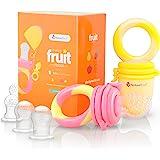 Ciuccio per Frutta Neonati Alimenti NatureBond (2 Pezzi) – Gioco per Stimolare la Dentizione dei Bambini in Colori che Stimol