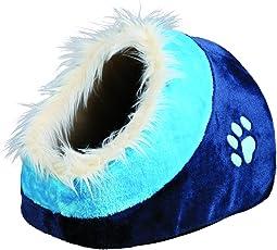 Trixie 36309 Kuschelhöhle Minou, 35 x 26 x 41 cm, dunkelblau/blau