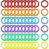 Anneaux de Reliure Anneaux de Reliure en Plastique 180 Pcs Anneaux Colorés Porte-Clés Anneau de Reliure à Feuilles Mobiles po