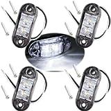 Futheda 4pcs IP65 Oval LED Lamps Side Marker Lights 12V/24V Front Rear Lights Universal Indicator of Position for Truck…