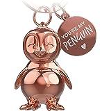 FABACH - Portachiavi con pinguino Frosty, idea regalo per fidanzata o fidanzata
