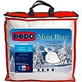 DODO - Couette Chaude Mont Blanc 220X240 - Densité 300g/m2 - Garnissage Duvet d'Oie Plumettes - Housse 100% Percale de Coton