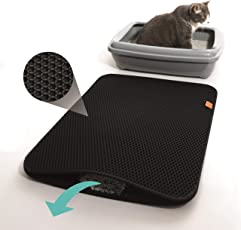 Pfotenolymp Katzenklo Vorleger große XXL Matte als Unterlage für Katzentoilette - Katzenmatte Unterlage fängt Katzenstreu auf