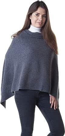 Adorawool - Poncho in Cashmere Merino - Morbido Mantello Invernale alla Moda Caldo per Le Donne