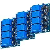 AZDelivery 3 x 4-Relay Module 5V met Optocoupler Low-Level Trigger compatibel met Arduino Inclusief E-Book!