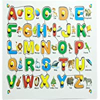 Eduway English Alphabet Wooden Colorful Learning Educational Board for Kids with Knobs, Educational Learning Wooden…