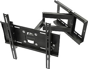"""RICOO Wandhalterung TV Schwenkbar Neigbar R23 Universal LCD Wandhalter Ausziehbar Fernseher Halterung Curved 4K OLED QLED LED Flachbildfernseher 80cm/32"""" - 165cm/65"""" Zoll / VESA 200x200 400x400 / Schwarz"""
