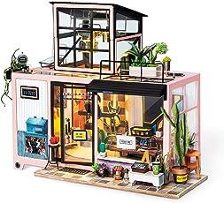 ROBOTIME DIY Miniatur Haus Puppenhaus Kit für Erwachsene - Creative Mini Studio Room für Mädchen