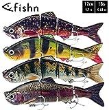 FISHN Bait Candy Set, Länge: 12 cm/15 cm, Gewicht: 18/35 Gramm, Swimbait Kunstköder/Angelköder/Wobbler zum Angeln auf…