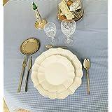 Mantel Cuadros Vichy - Mantel Cocina - Mantel de Tela - Mantel%100 Algodon (Azul, 140 X 180 cm)