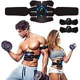 ROOTOK Elettrostimolatore Muscolare, EMS Suscolo Addominale,Ricarica USB ABS Trainer/Toner per Addome/Braccio/Vita/Gambe Home