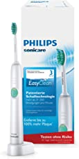 Philips Sonicare EasyClean Zahnbürste HX6510/22 - elektrische Schallzahnbürste mit 1 Putzprogramm,Timer, Ladegerät & einem Bürstenkopf - einfache Handhabung – Weiß