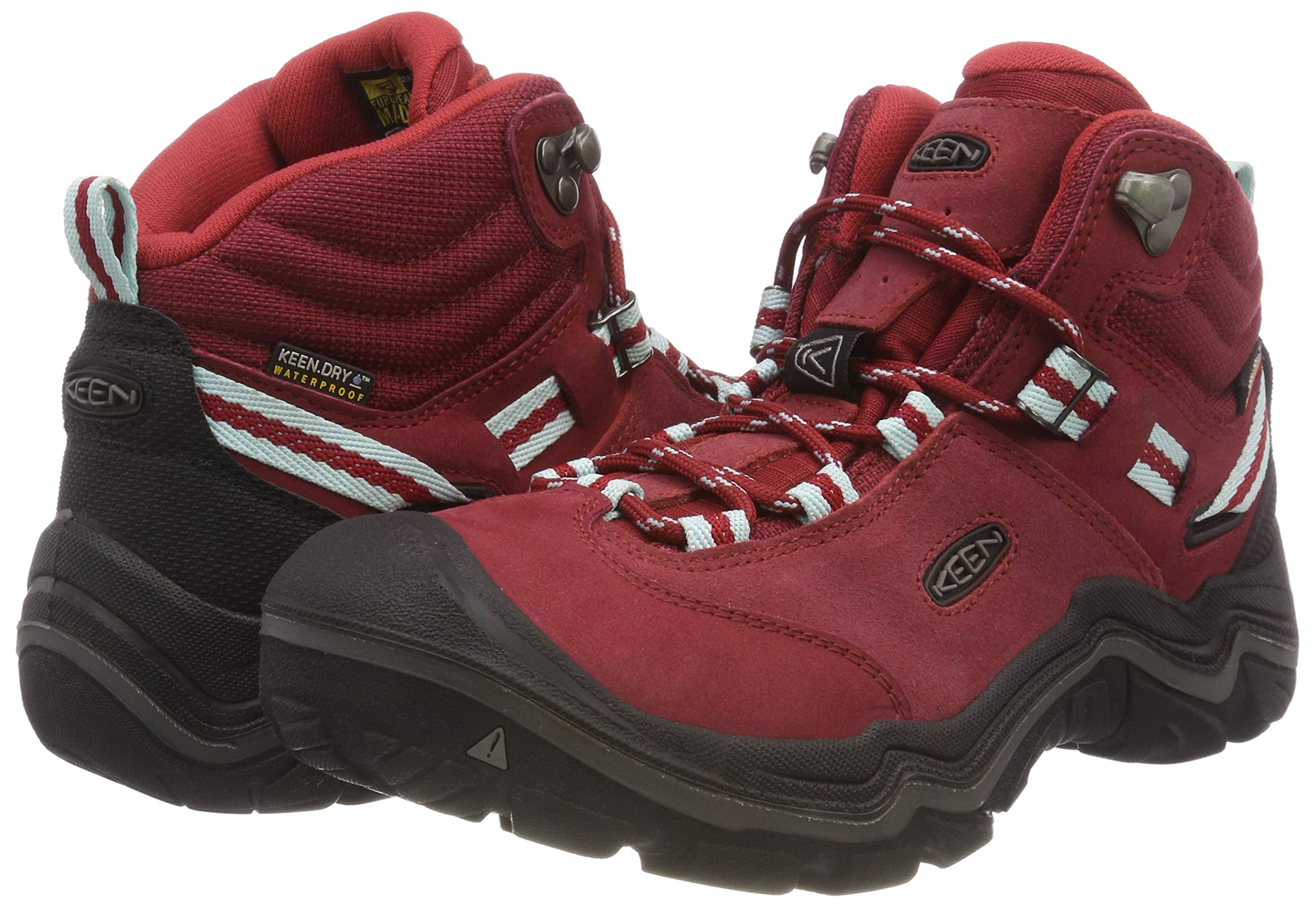KEEN Women's Wanderer Waterproof Mid High Rise Hiking Shoes, 8.5 UK 5