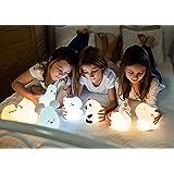 InnoGIO - Veilleuse en Silicone GIOprincess - Bébé - Enfant - Lumière Chaleureuse et Tamisée - 10 Heures d'Autonomie - Doux