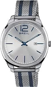 Orologio BREIL uomo CLUBS quadrante argento e bracciale in acciaio, movimento SOLO TEMPO - 2H QUARZO