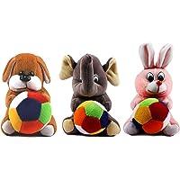 Babique Combo Dog Rabbit and Elephant Soft Toy Kids Birthday (19 cm)