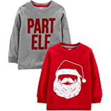 Simple Joys by Carter's 2-Pack Christmas Long-Sleeve Tees Bebé-Niños