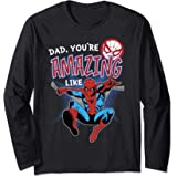 Marvel Spider-Man Amazing Dad Father's Day Manche Longue