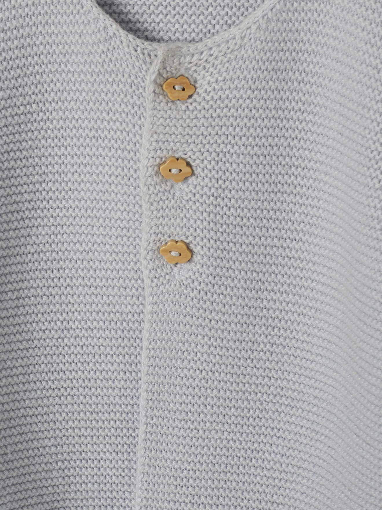 VERTBAUDET Chaqueta bebé recién nacido tricotada de punto bobo AZUL MEDIO LISO 1M-54CM 3