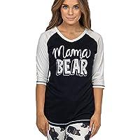 Lazy One Women's Mama Bear PJ Tall T Shirt Adult XL