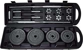 Dumbbell & Barbell Set, 1 Rod & 2 bar, Weight: 50 KG [LP50Kgs-Box]