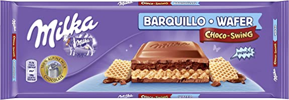 Milka swing tableta de barquillo de chocolate leche(e300g)