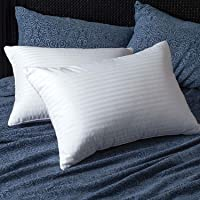 GB TEXTILE Pack Of 4 Egyptian Stripe Luxury Soft Pillows Hollowfibre Filled