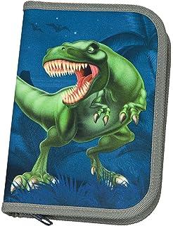 Striefchen/® Federmappe mit Namen f/ür Jungen Dinosaurier Tyrannosaurus Stiftebox Motiv