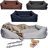 Tante Hilde Hundebett, Hundekorb, Hundekissen Norderney für kleine, mittlere und große Hunde, Waschbar, Robust, Größenauswahl, Hochwertige Qualität!