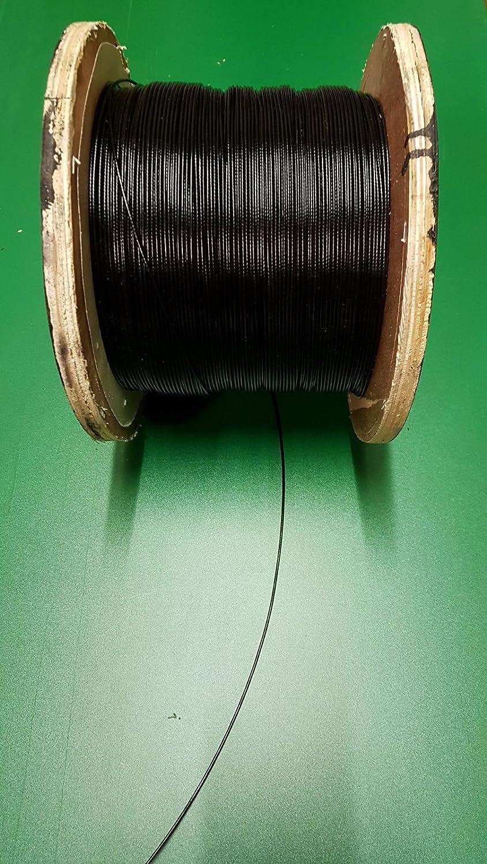 Schwarz Weiß Stahl Draht Seil Kabel 2 mm, BLACK Steel Wire Rope ...