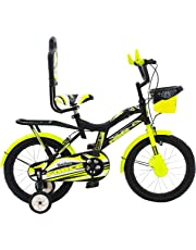 MAD MAXX BIKES Force Steel Kid's Road Cycle, 16 inches Matte Finish Black for 4 to 6 Years Child