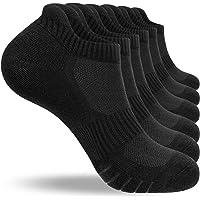 Natugloe Running Socks 6 Pairs Cushioned Trainer Socks Anti-blister Odor-free Cotton Sports Ankle Socks Low Cut Athletic…